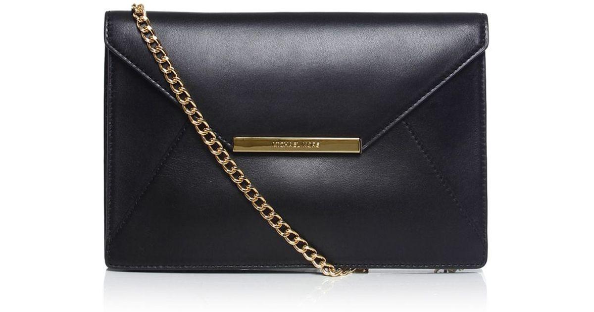a885c2c4f9caef MICHAEL Michael Kors Lana Envelope Clutch Bag in Black - Lyst