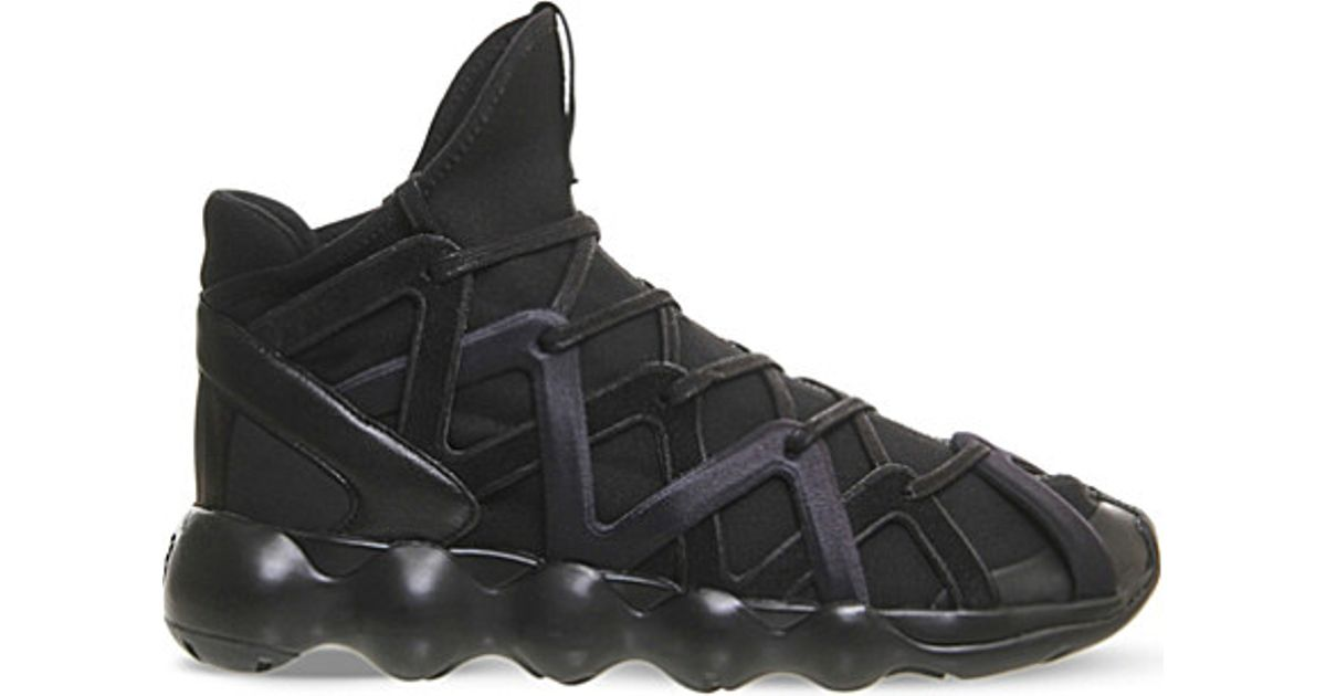 b31d5e6c6f504 Lyst - Y-3 Kyujo High-top Neoprene Trainers in Black for Men