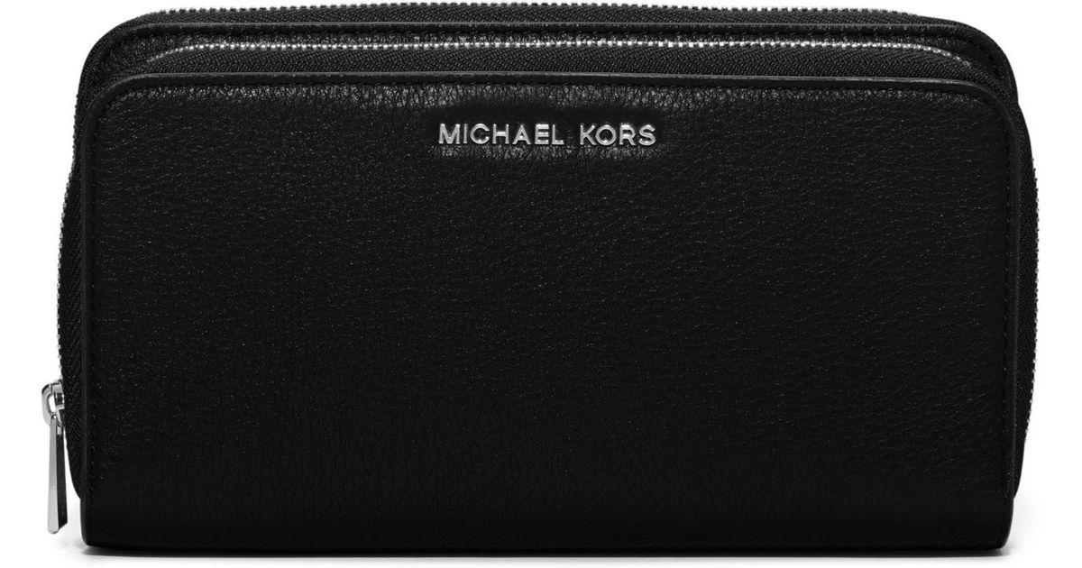 Michael Kors Adele À Double Zip Noir Portefeuille qSFEuxodB