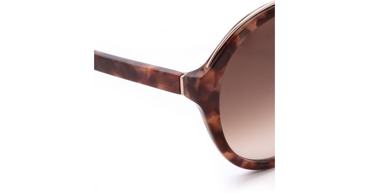 b107f82a3bfa Kate Spade Bernadette Sunglasses in Brown - Lyst
