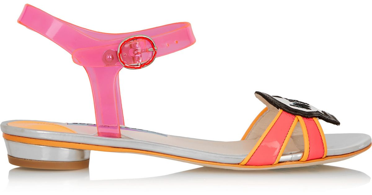 87e11e06844e Lyst - Sophia Webster Wifey For Lifey Vinyl And Patent-leather Sandals in  Orange