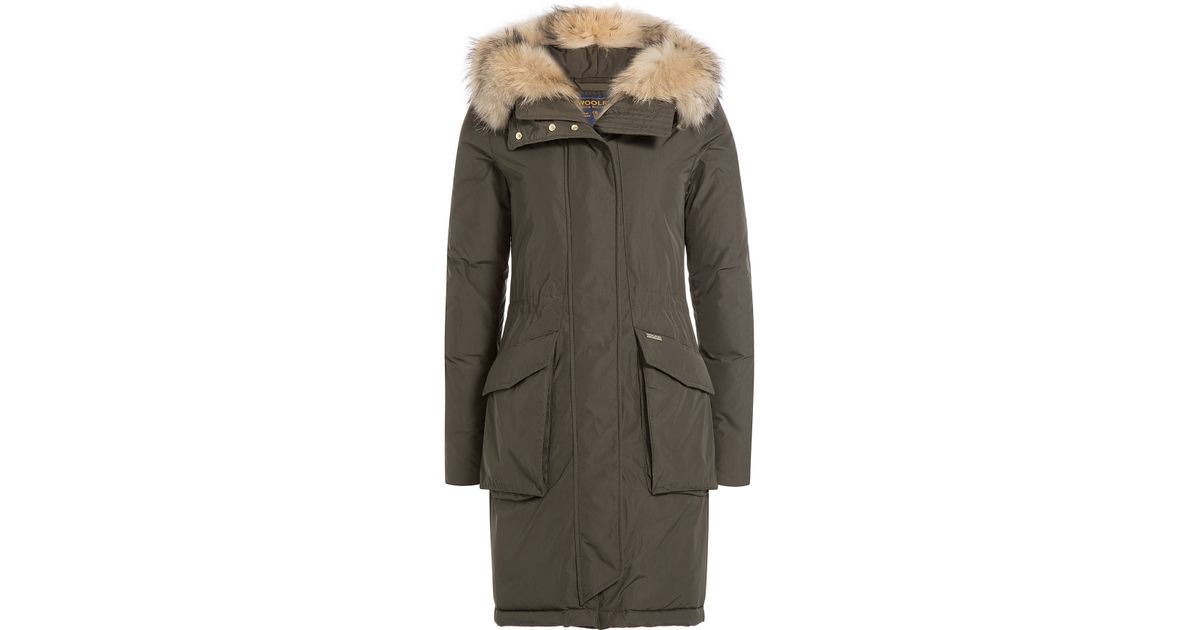 Woolrich Military Eskimo Down Parka With Fur-trimmed Hood - Green ...