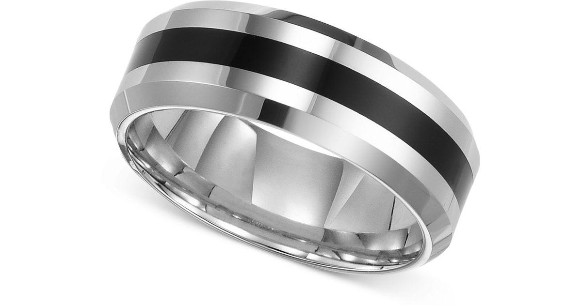 Black Tungstan Triton Ring