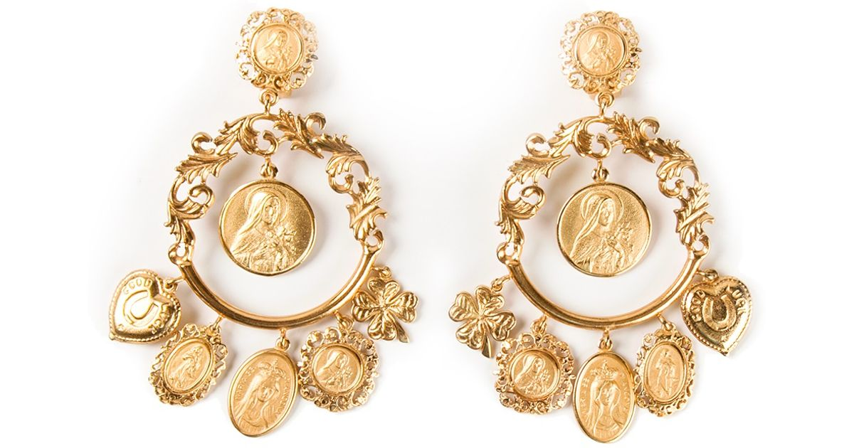 clip up crystal embellished sale on to gabbana and dolce stylight earrings product
