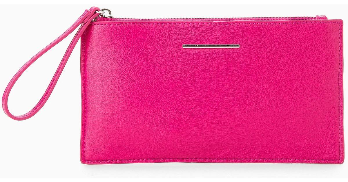 16774235085 Lyst - Mango Wristlet Cosmetic Bag in Purple