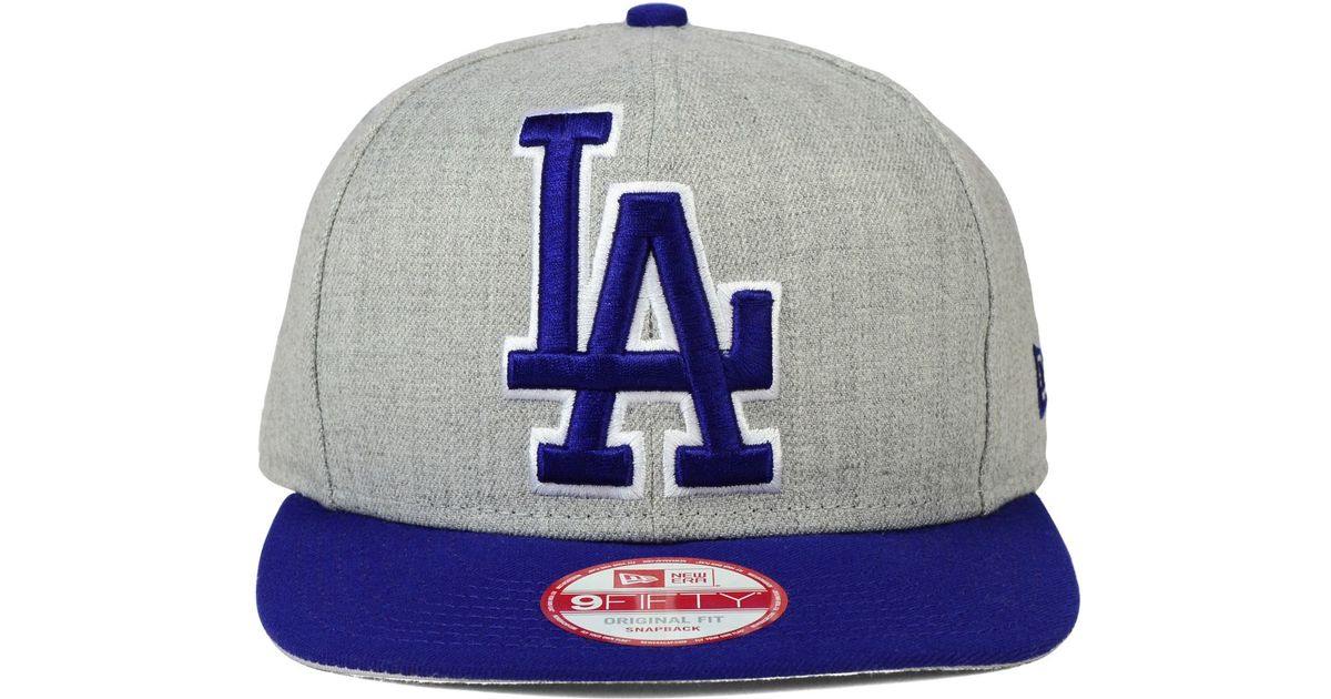 new style c884f f8972 Lyst - KTZ Los Angeles Dodgers Logo Grand 9fifty Snapback Cap in Gray for  Men