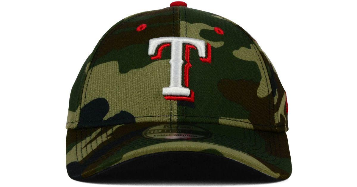 d9408b93e00 ... ebay lyst ktz texas rangers camo classic 39thirty cap in green for men  b8dda 1ea76