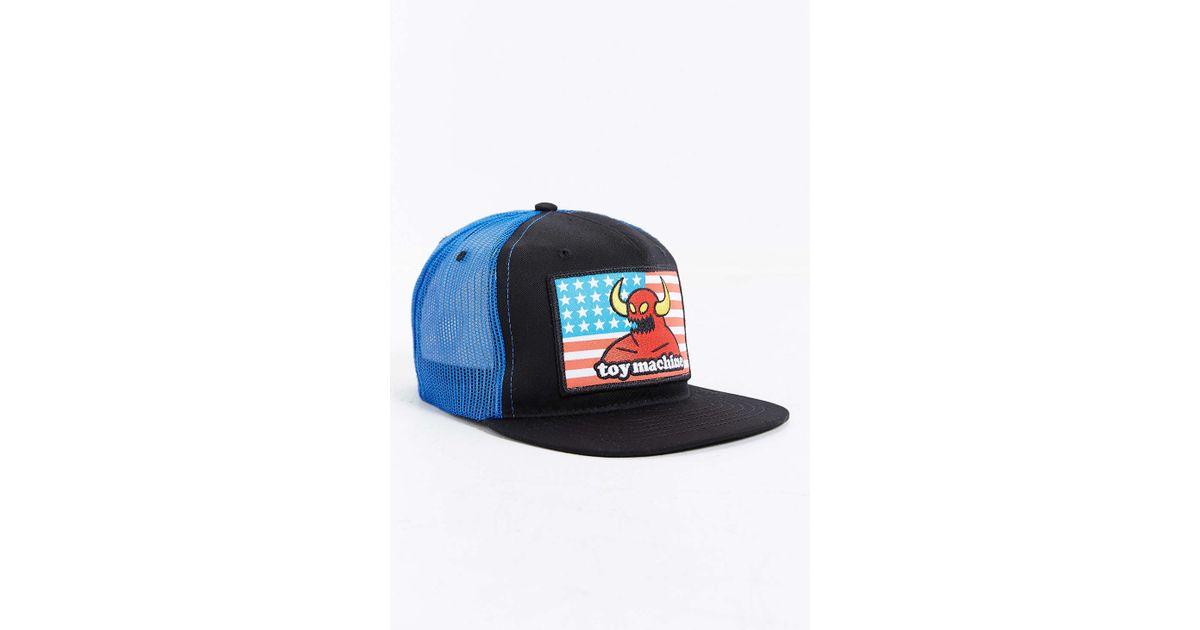 Lyst - Toy Machine American Monster Trucker Hat in Blue for Men 82cf86d8b59