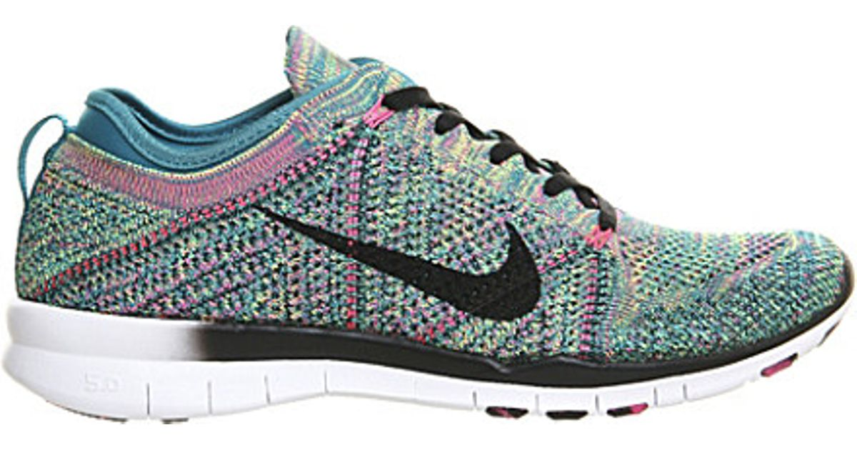 704caf3a6a74 sale nike free flyknit mesh trainers for women in green lyst f1dd7 52303