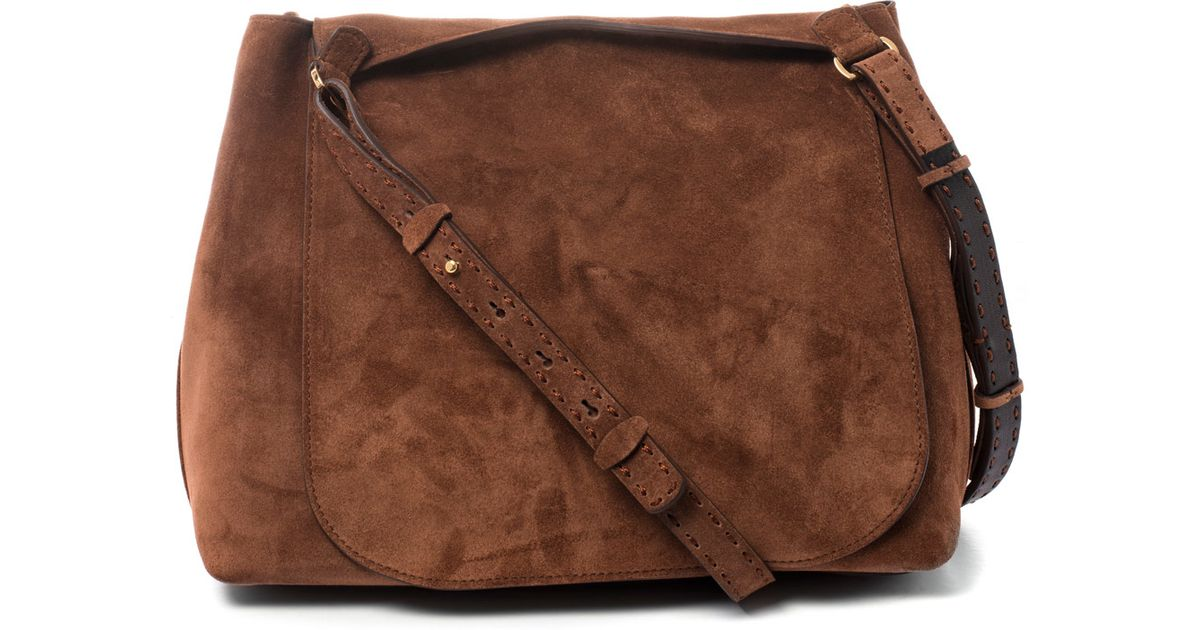 9dca95a3c0 Lyst - The Row Tan Sideby Suede Saddle Bag in Brown