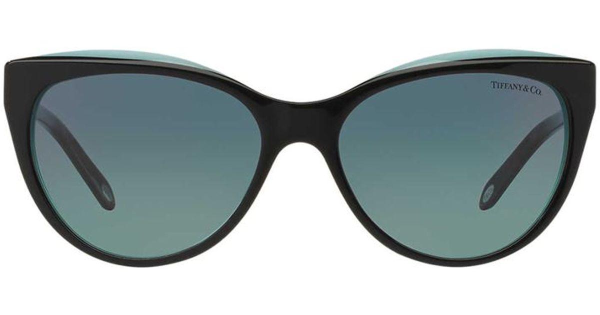 28624e91cd30 Tiffany   co. Cat Eye Latticework Sunglasses in Black