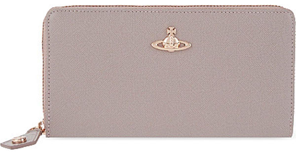 6af1a38b975 Vivienne Westwood Opio Saffiano Zip-around Wallet - For Women in Pink - Lyst
