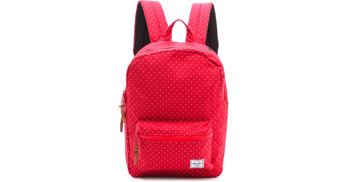 lyst herschel supply co settlement backpack red polka dot in red