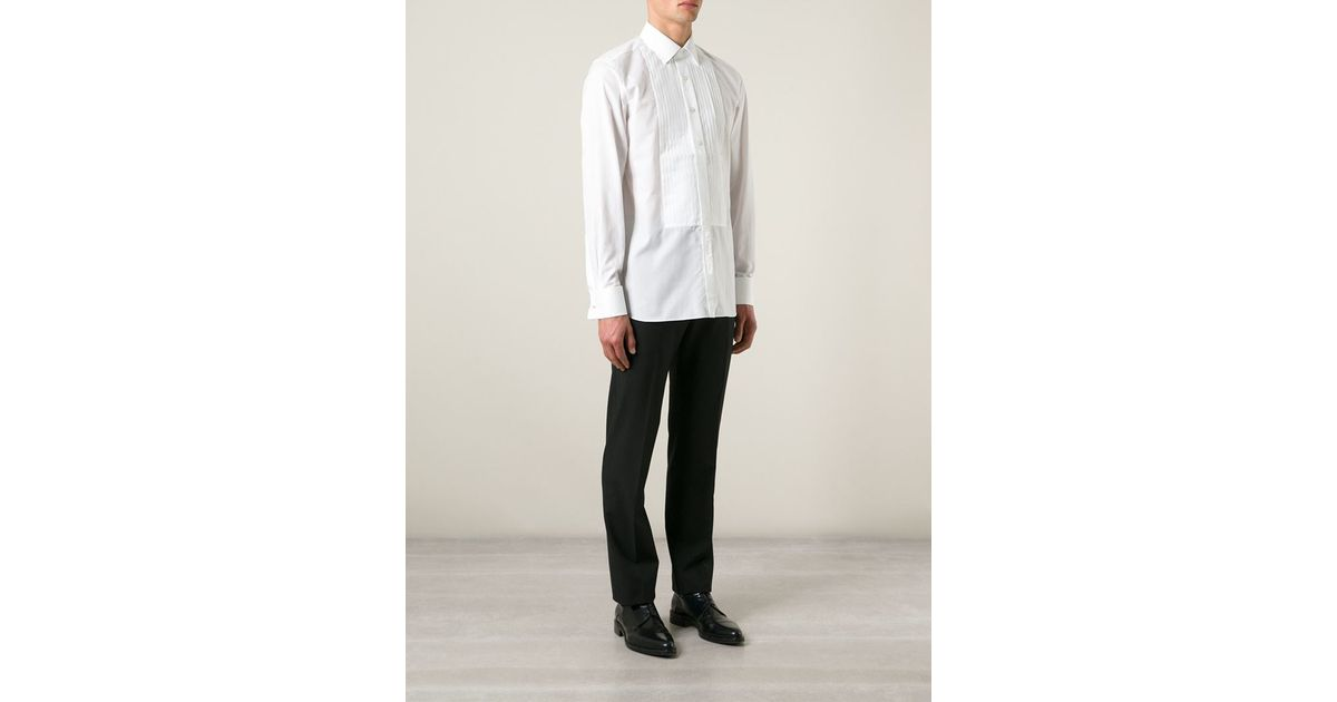 3bec02569a754c Tom Ford Pleated Front Shirt in White for Men - Lyst