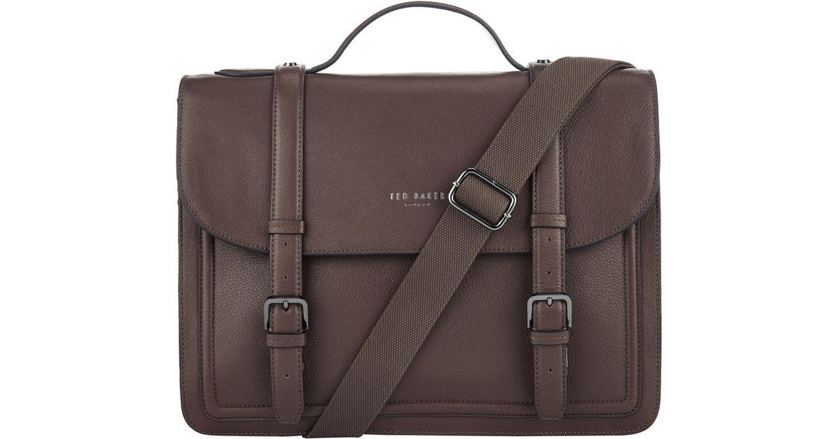 c3799f634 Ted Baker Jagala Leather Messenger Bag for Men - Lyst