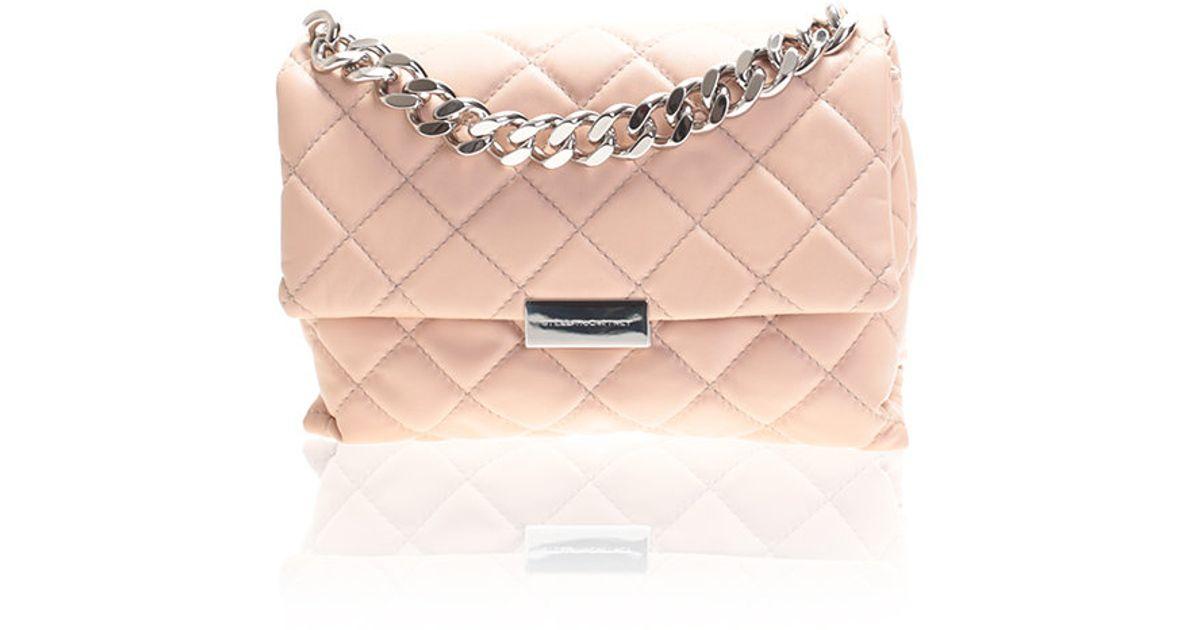 Stella McCartney - Pink Beige Soft Beckett Bag - Lyst aad2e11ded2a2