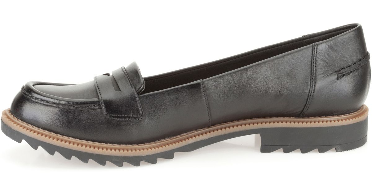 Black Loafers Lyst Griffin Milly Clarks QrshdtC