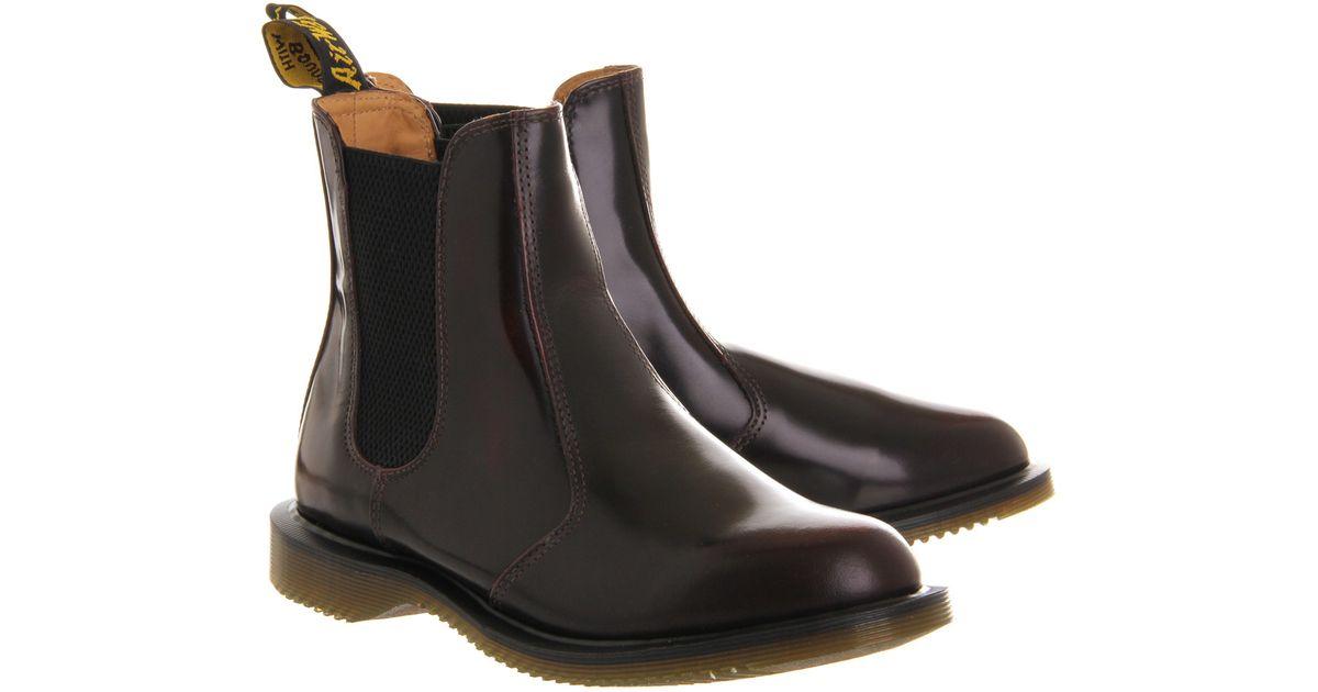 dr martens kensington flora boots in purple lyst. Black Bedroom Furniture Sets. Home Design Ideas