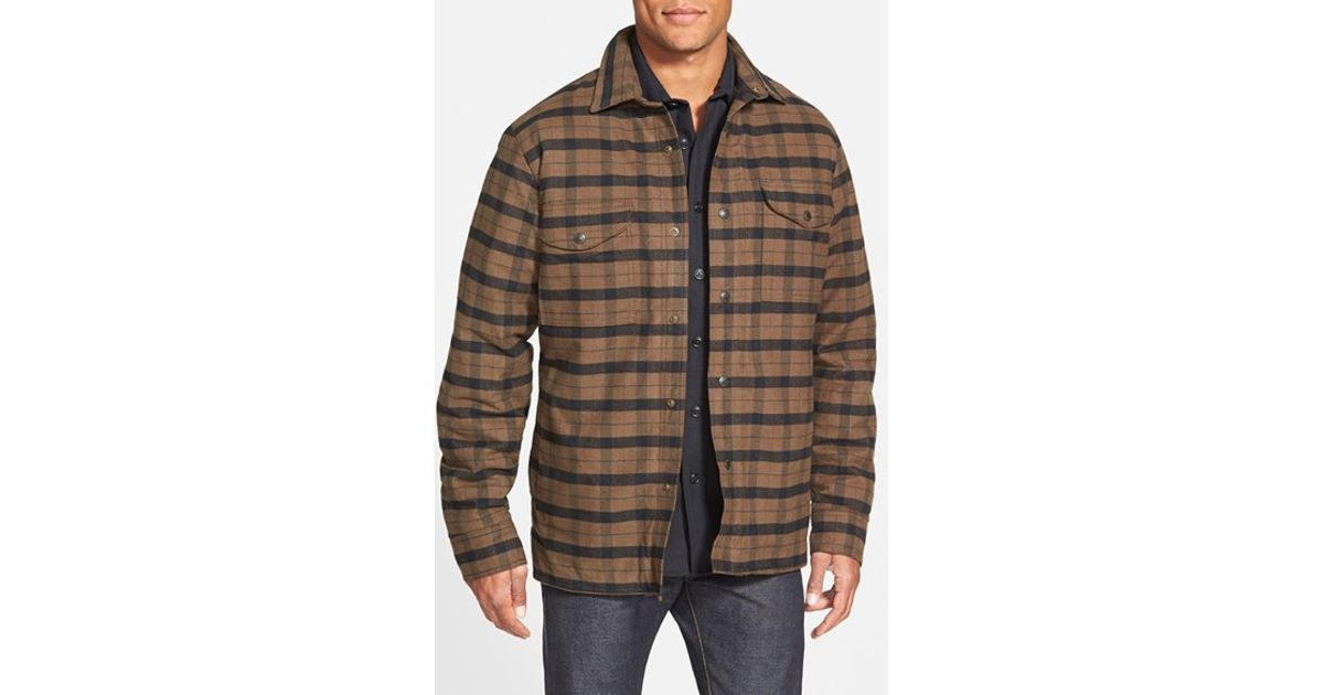Filson 'alaskan Guide' Lined Plaid Flannel Shirt Jacket in Green ...