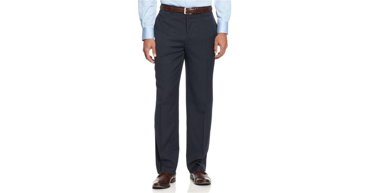 Alfani Navy Sharkskin Pants In Blue For Men Navy Lyst