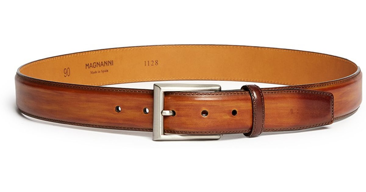 c56523211a6 Lyst Saks Fifth Avenue Catalux Leather Belt In Brown For Men