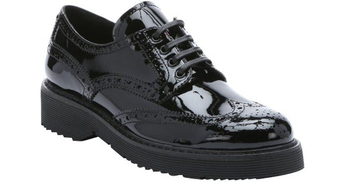 Prada Prada Derby patent leather shoes wiki cheap price mMERZx