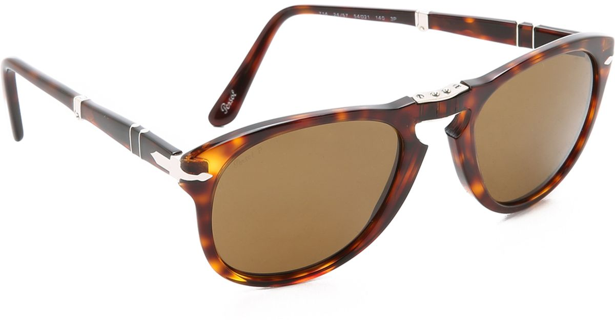 Persol Folding Classic Sunglasses in Brown for Men (Havana ...