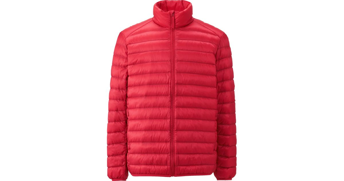 uniqlo men ultra light down jacket in red for men save 25 lyst. Black Bedroom Furniture Sets. Home Design Ideas