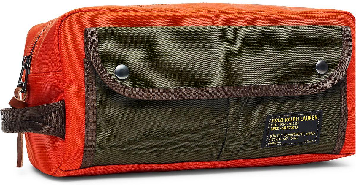 ef69216149aa Lyst - Polo Ralph Lauren Nylon Shaving Kit in Orange for Men