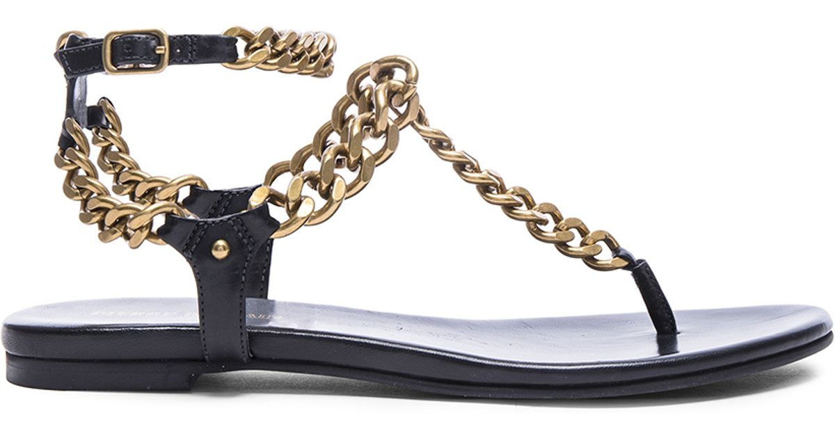 Balmain embellished chain sandals brand new unisex cheap online discount shopping online cheap 2014 newest brand new unisex sale online JwOKalz