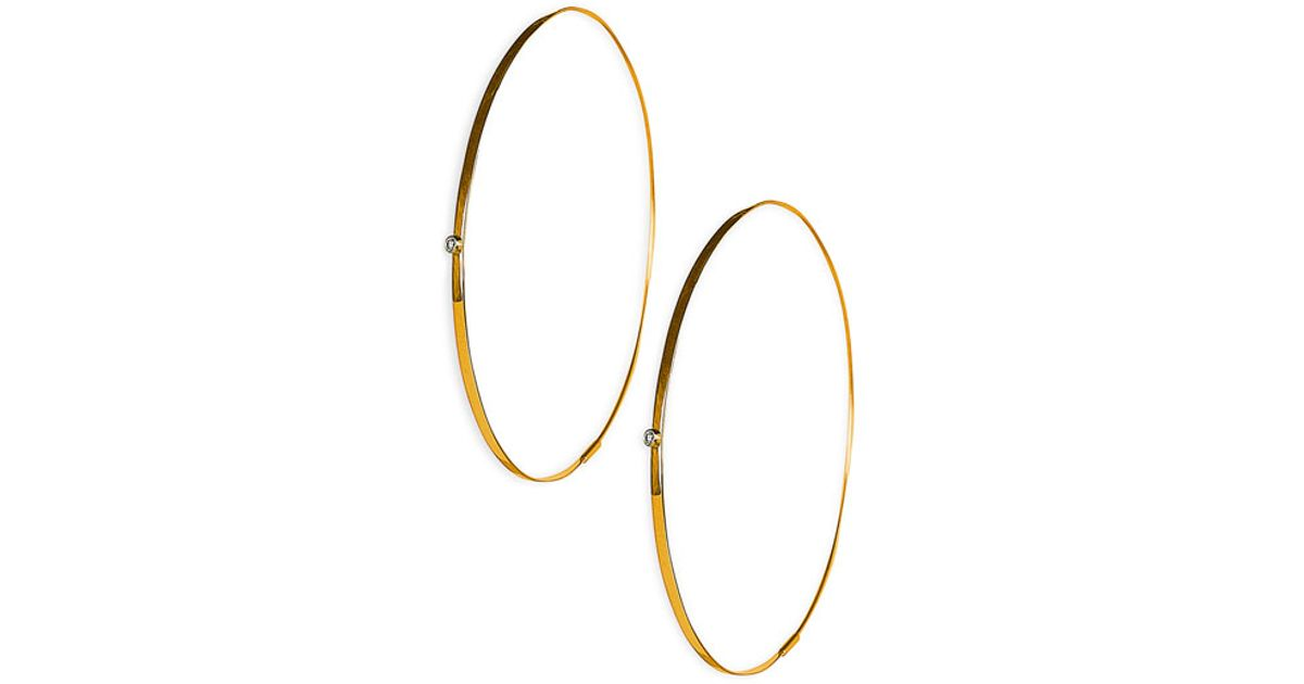 19c77ce6a4928 Lana Jewelry Yellow 'large Flat Magic' Diamond Hoop Earrings
