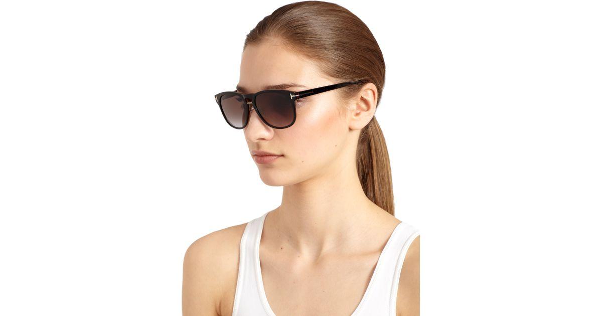 ceb54a58bc29f Tom Ford Franklin Square Sunglasses in Black - Lyst