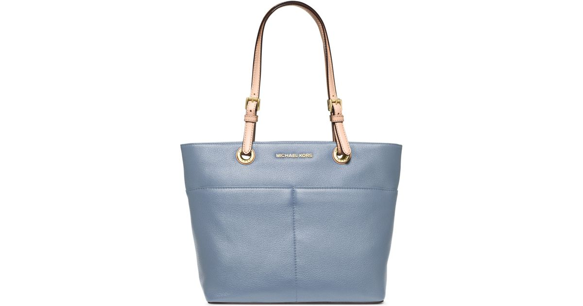 b382f37d7268 Michael Kors Bedford Leather Tote Bag in Blue - Lyst