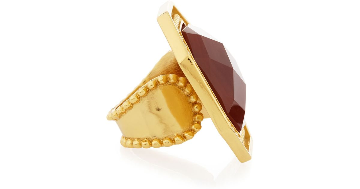 Stephanie Kantis Octagon Carnelian Adjustable Ring 0O7NQg
