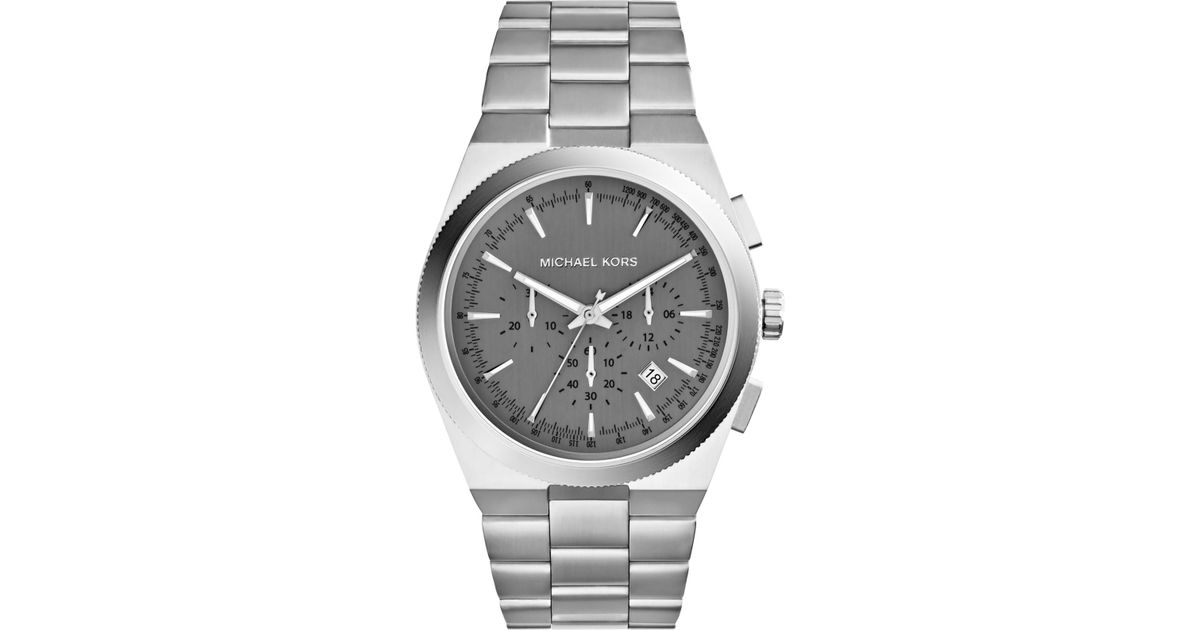 Lyst Michael Kors Men S Chronograph Channing Stainless Steel Bracelet Watch 43mm Mk8337 In Metallic For