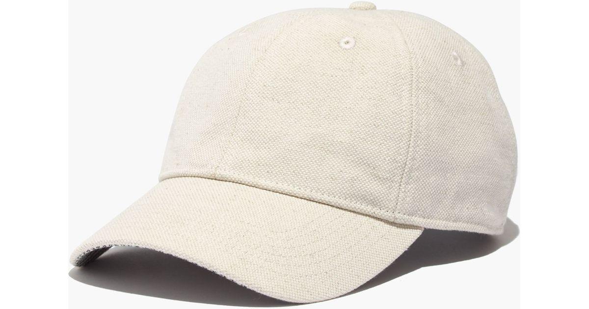 Lyst - Madewell Linen-cotton Baseball Cap in Green 84ab7b6dac5