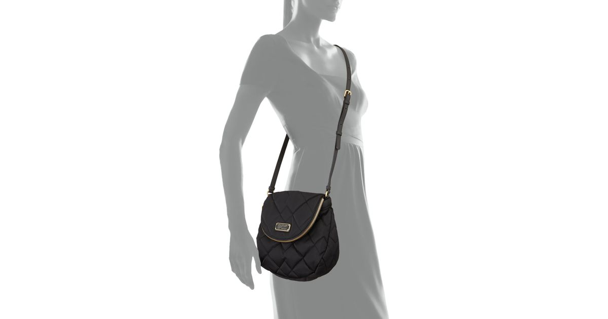 fbac79557be5 Lyst - Marc By Marc Jacobs Crosby Quilted Nylon Natasha Crossbody Bag in  Black
