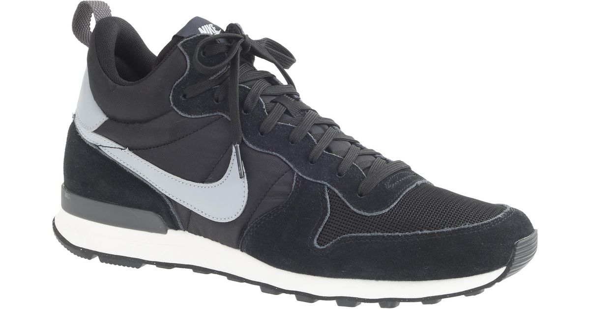 timeless design a43a2 ad65f ... discount code for lyst j.crew mens nike internationalist mid sneakers  in black for men