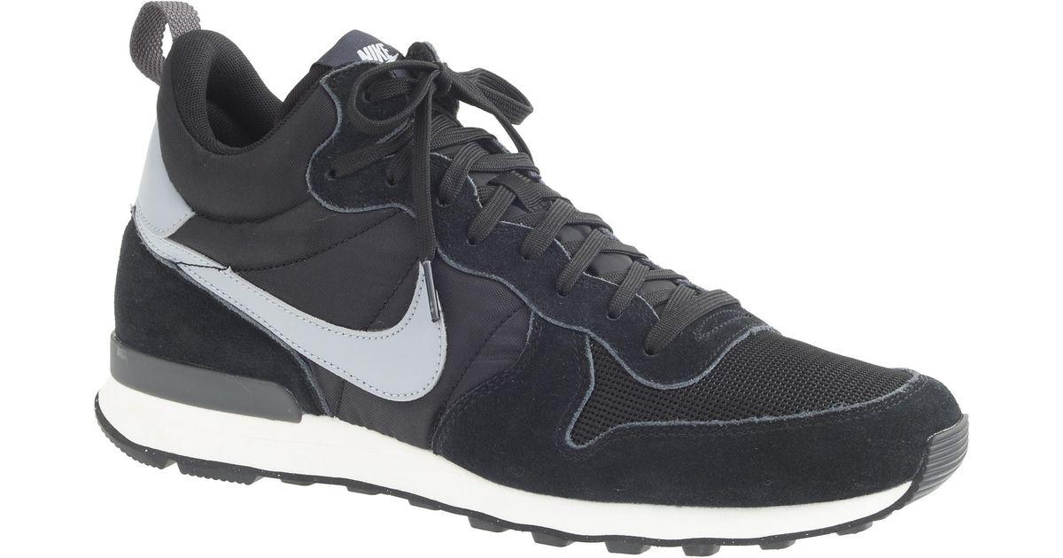 timeless design d8687 3c4da ... discount code for lyst j.crew mens nike internationalist mid sneakers  in black for men