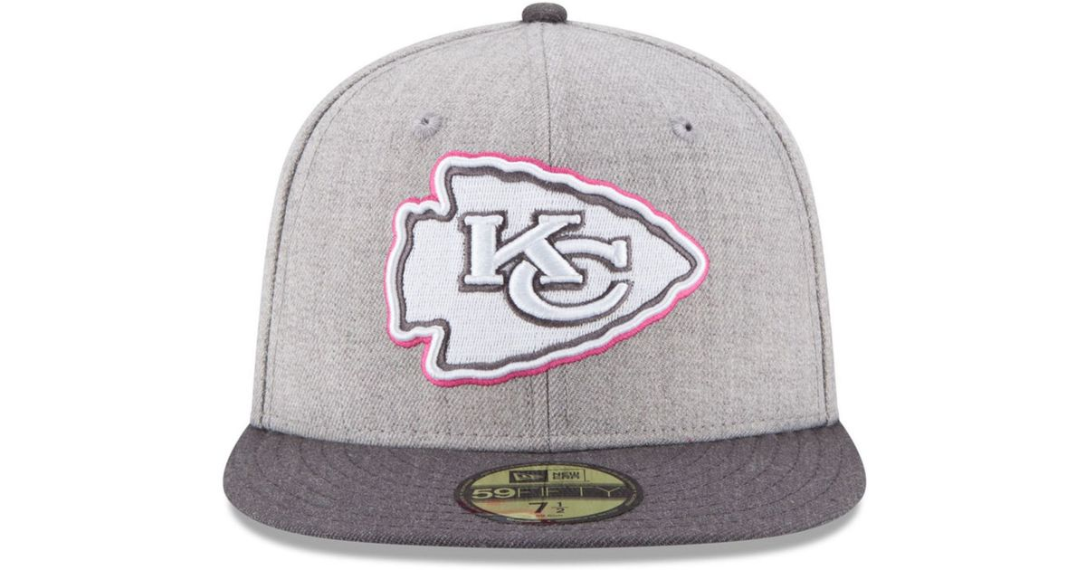 ... T Cancer Awareness Hats Hat Hd Image Ukjugs outlet online 433dd 948fc   Lyst - Ktz Kansas City Chiefs 2015 Bca 59fifty Cap in Gray f outlet for  sale . ... cd041f113bd7