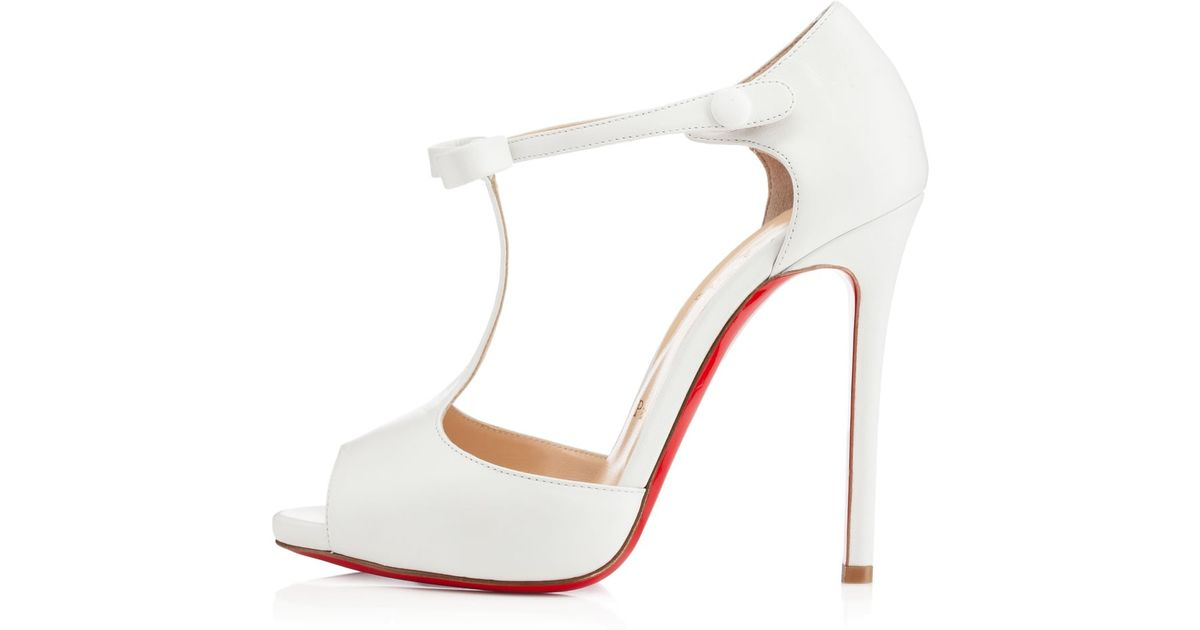 066dbf4ef59 Christian Louboutin - White Belly Nodo - Lyst