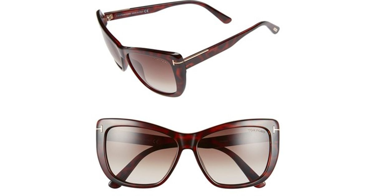 52a2be0e670dc Lyst - Tom Ford  lindsay  58mm Sunglasses - Shiny Beige  Brown Mirror in  Natural