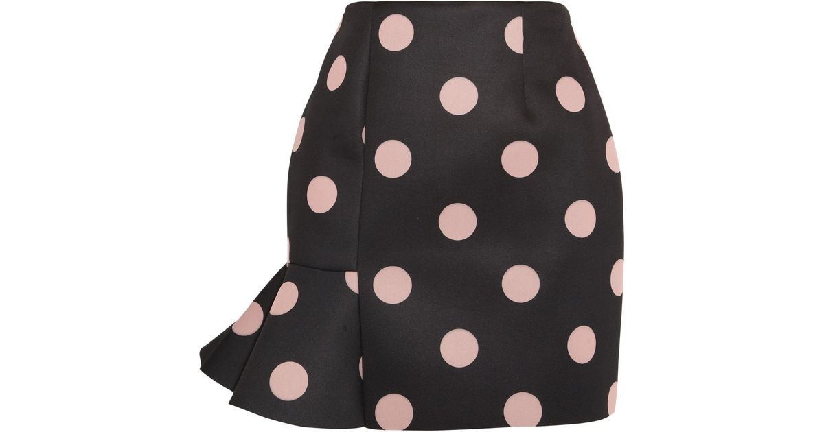 3bac8f8c02 Vivetta + Eva Polka-Dot Neoprene Mini Skirt in Pink - Lyst