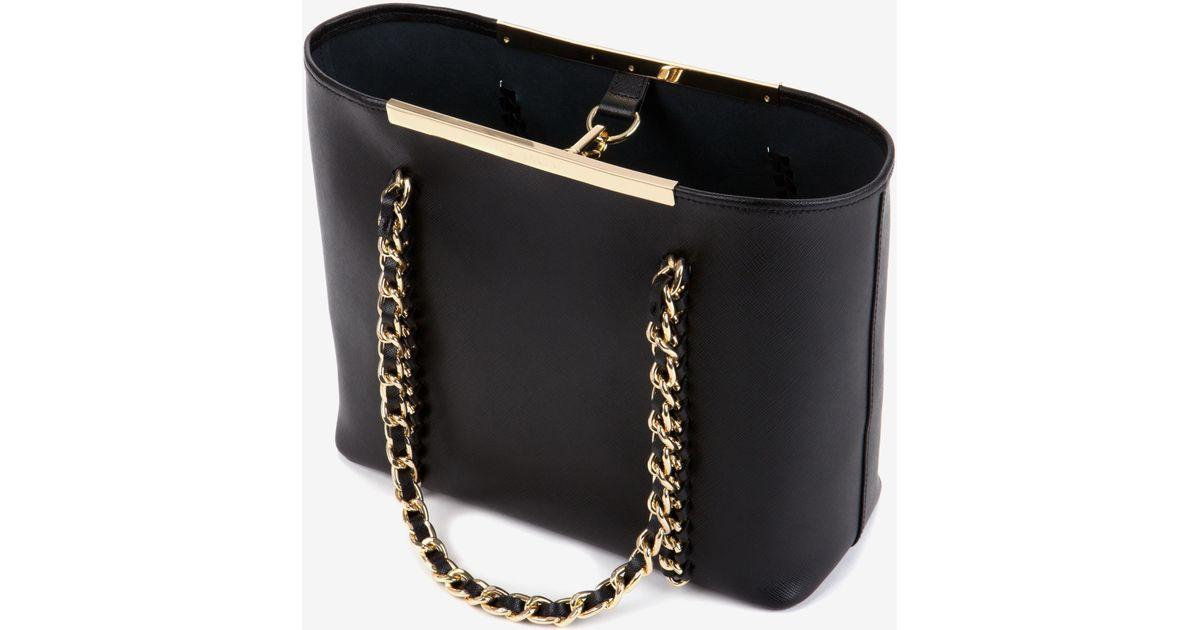 b03c9c33c20 Ted Baker Small Metal Chain Shopper Bag in Black - Lyst