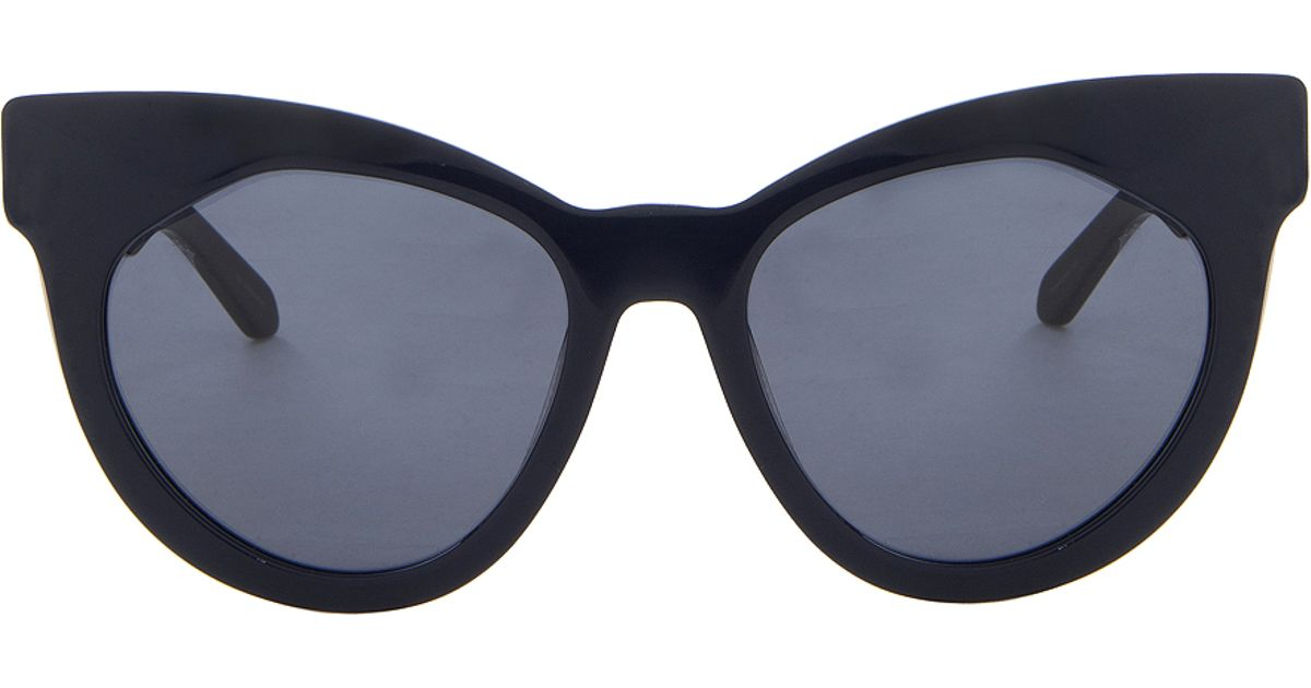 553c4dc0aca Lyst - Karen Walker Starburst Cat-eye Sunglasses in Blue