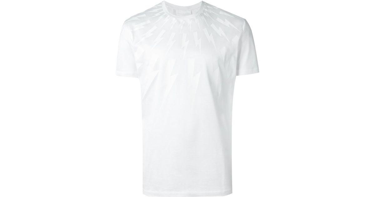9d31eb91 Lyst - Neil Barrett Lightning Bolt T-shirt in White for Men