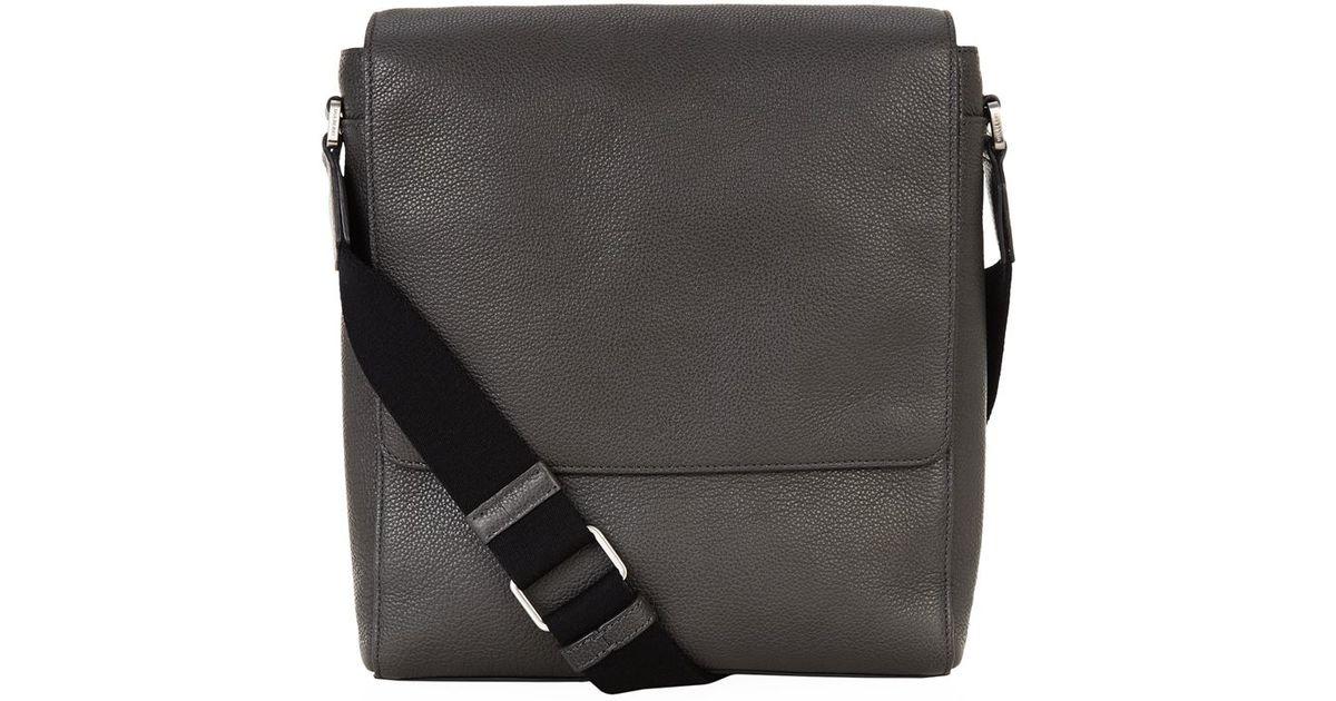 1b77f17fb25 Mulberry Maxwell Slim Messenger Grain Leather Bag in Black for Men - Lyst
