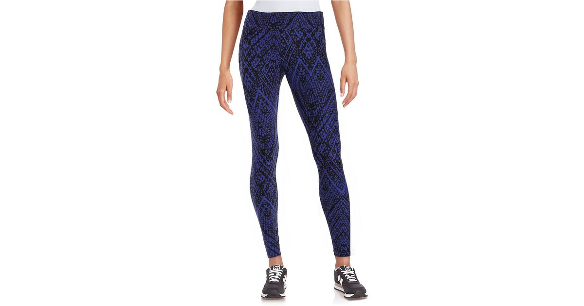 Marc new york Patterned Knit Leggings in Purple (Ultra Violet) Lyst