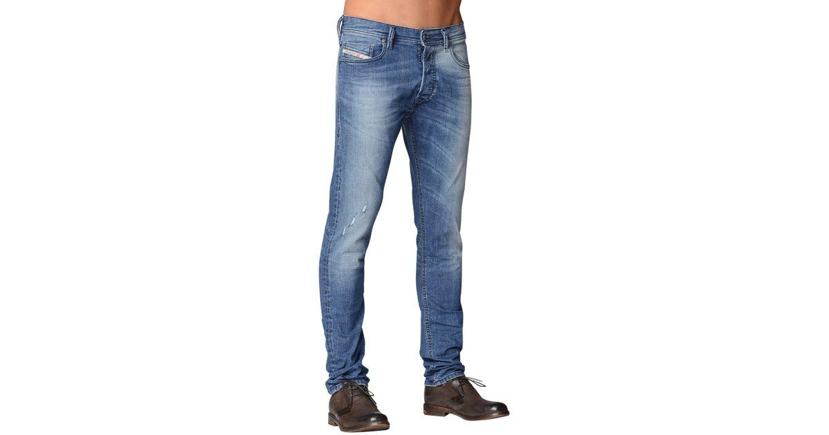 b58b1a6dca2ef1 DIESEL Tepphar 0609R Slim Carrot Jeans in Blue for Men - Lyst