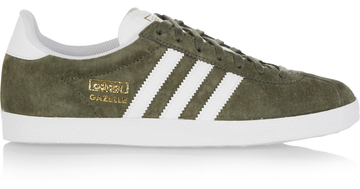 d0b5a6cec011 adidas Originals Gazelle Og Suede Sneakers in Green - Lyst